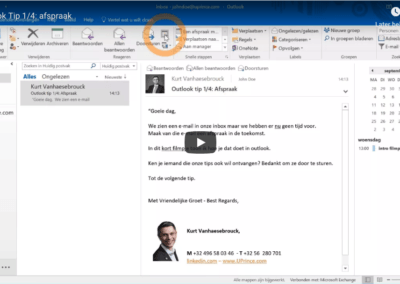 Outlook tip 2: taken opnieuw inplannen